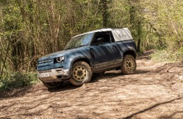 Land Rover Defender 90 Hard Top, 2021, side, off road