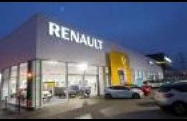 Deserted car dealership
