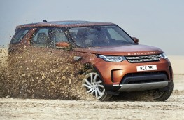 Land Rover Discovery, 2017, off road, action