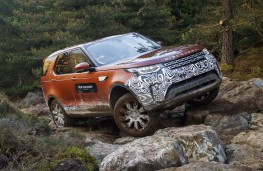 Land Rover Discovery, 2017, rocks, front
