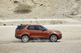 Land Rover Discovery, 2017, side, action