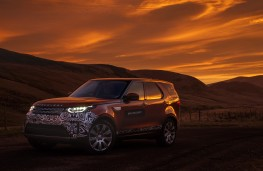 Land Rover Discovery, 2017, sunset, static