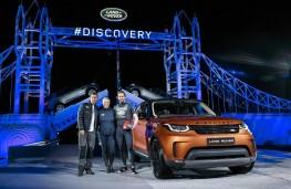 Land Rover Discovery, 2017, reveal, Bear Grylls, Zara Phillips, Sir Ben Ainslee