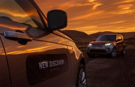 Land Rover Discovery, 2017, sunset, side