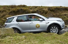Prince of Wales drives Land Rover Discovery Sport