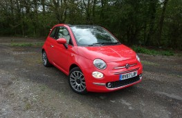 Fiat 500C, front, roof down