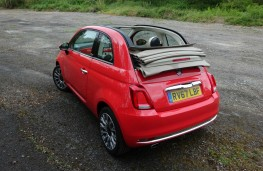 Fiat 500C, rear, roof down