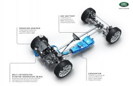 Land Rover Discovery Sport, 2019, mild hybrid cutaway