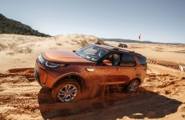 Land Rover Discovery, 2017, dunes, action