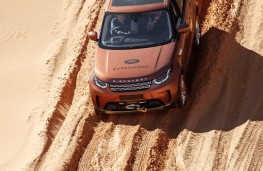 Land Rover Discovery, 2017, dunes, slope