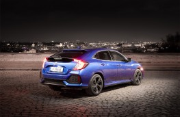 Honda Civic 1.6 I-DTEC, 2018, rear, static, night