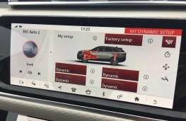 Range Rover Velar, 2017, dynamic settings