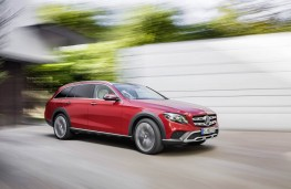 Mercedes-Benz E-Class All-Terrain, 2017, side, action