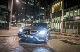 Mercedes-Benz E 220d AMG Line, 2016, cornering