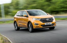 Ford Edge, gold, front