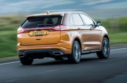 Ford Edge, gold, rear