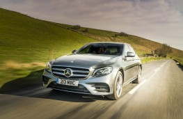 Mercedes-Benz E 220d AMG Line, 2016, front, action