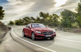 Mercedes-Benz E-Class Coupe, 2017, front, action