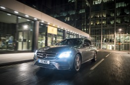 Mercedes-Benz E 220d AMG Line, 2016, front, night