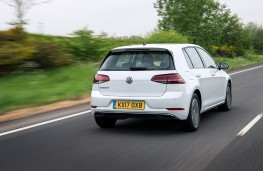 Volkswagen e-Golf, 2017, rear, action