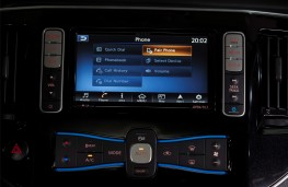 Nissan e-NV200, 2019, display screen