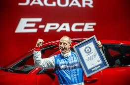 Jaguar E-PACE, 2017, world record barrel roll, Terry Grant