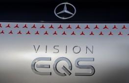 Mercedes-Benz Vision EQS concept, 2019, badge