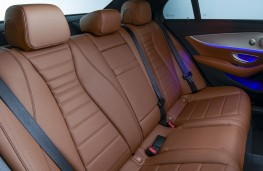 Mercedes-Benz E-Class, 2021, rear seats