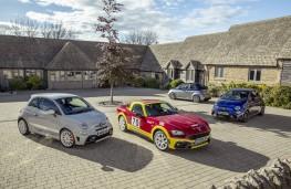 Abarth line up, 595 esseesse, 124 Retro Rally, Competizione and Rivale
