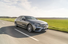 Mercedes-Benz E 220d AMG Line, 2016, side, action