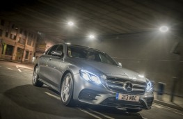 Mercedes-Benz E 220d AMG Line, 2016, side, night