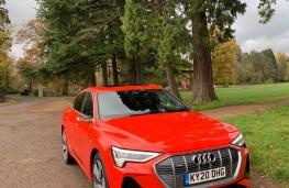 Audi e-tron, 2020, front, upright