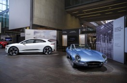 Jaguar E-Type Zero, 2017, with I-PACE