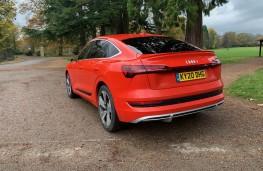 Audi e-tron, 2020, rear