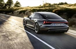 Audi e-tron GT, 2021, rear