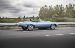 Jaguar E-Type Zero, 2017, side, action, track