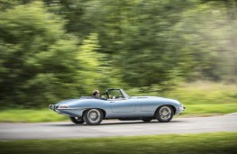 Jaguar E-Type Zero, 2017, side, action