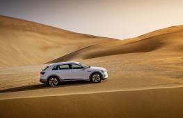 Audi e-tron, 2019, side, desert