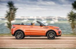 Range Rover Evoque Convertible, 2016, side, action