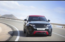 Range Rover Evoque Ember special edition, front, action