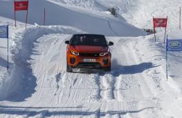 Range Rover Evoque Convertible, front, downhill