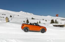 Range Rover Evoque Convertible, side, piste