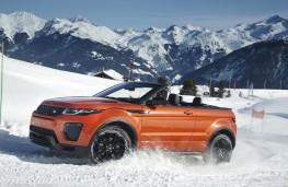 Range Rover Evoque Convertible, side, snow