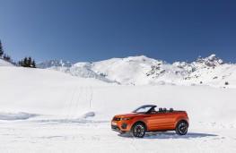 Range Rover Evoque Convertible, side, snow, static