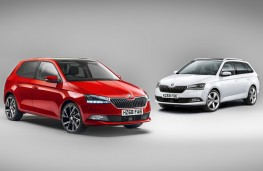 Skoda Fabia hatch and estate, 2018, front