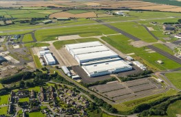 Aston Martin factory, St Athan, aerial view