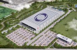 Ineos factory, Bridgend, overhead