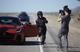 Jaguar F-TYPE SVR, Fast and Furious star Michelle Rodriguez celebrates