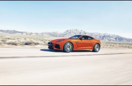 Jaguar F-TYPE SVR, high speed, side