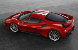 Ferrari 488 Pista side overhead